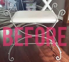 Metal Vanity Stool Britney Dearest An Easy Thrifted Vanity Bench Upgrade