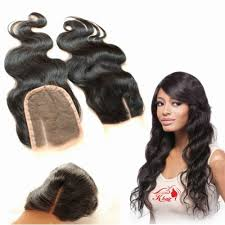 top closure 4x4 wave 3 way part middle part hair lace