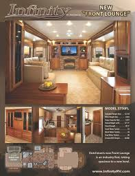 5th wheel with living room in front new dutchmen rv infinity 3750fl front living room fifth wheel rv at