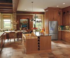 Rustic Kitchen Furniture Rustic Kitchen With Cherry Wood Cabinets Omega