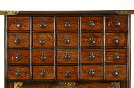 sold apothecary korean traditional cabinet or 22 drawer jewelry