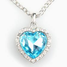 titanic blue necklace images Blue diamond heart necklace inspirational blue diamond heart jpg