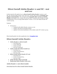 adobe reader silent install by get it solutions issuu