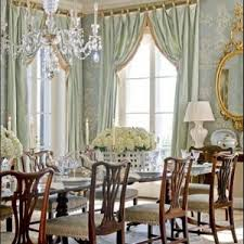 french country dining room ideas with chandelier with blue shades