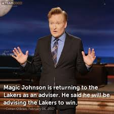 Magic Johnson Meme - joke magic johnson is returning to the lakers as an adv conan