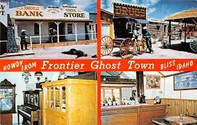 Connecticut Ghost Town Bliss Idaho Frontier Ghost Town Multi View Vintage Postcard V16556