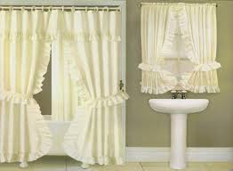 Fabric Shower Curtains With Valance Gallery Of Shower Curtains With Valance And Tiebacks Dfwago Com