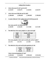 common core worksheets addition u0026 subtraction grade 4 by testmate