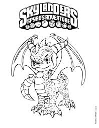 skylander spyro coloring pages cartoon awesome book skylander