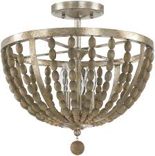 Flush Mounted Lighting Fixtures Capital Lighting 4795tz Lowell Contemporary Tuscan Bronze With