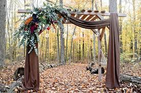 wedding backdrop rustic 20 wedding ceremony backdrops for fall brit co