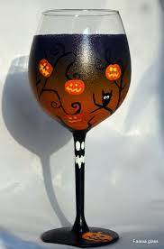 great painted wine glasses halloween 69 for with painted wine