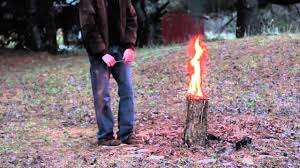 How To Build A Stump by How To Make A Swedish Torch Youtube