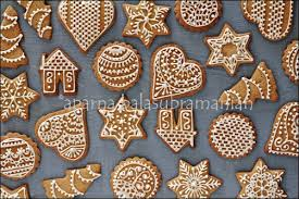 festive decorated gingerbread cookies recipe food photography