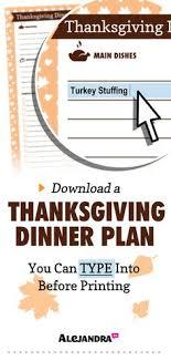 thanksgiving checklist organizing thanksgiving