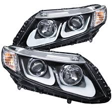 honda civic headlight anzo usa honda civic 2 4dr 12 15 projector headlights u bar