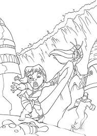 milos daughter lost teddy bear atlantis coloring pages