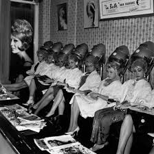 old ladies hair salon these vintage hair dryer photos make it seem cool under the hood