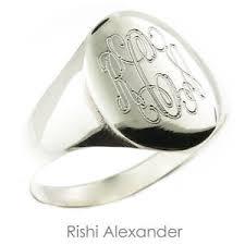 monogram ring 925 sterling silver womens signet monogram ring ebay