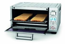 Toaster Oven 4 Slice Non Stick Rack Tray Stainless Steel Kitchen