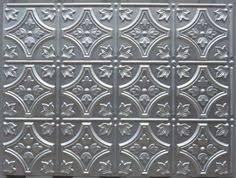 Embossed Tin Backsplash by Hand Glazed Reclaimed Vintage Tin Ceiling Tile Back Splash On
