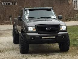 ranger ford lifted 2008 ford ranger fuel revolver fabtech suspension lift 3in