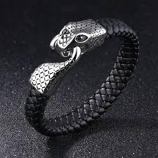 stainless steel snake bracelet images Stainless steel snake design bracelet for men very popular jpg