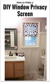 How To Tile A Kitchen Window Sill How To Make A Pretty Diy Window Privacy Screen