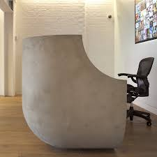 Concrete Reception Desk Concrete Reception Desks Custom Made Designs Apres Furniture