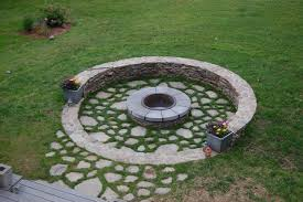 fire pit glass rocks landscape traditional with circle fire pit