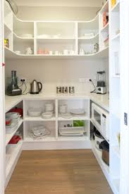 a walk in pantry is a great storage saver but also has a little