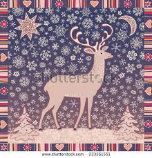 decorative deer image formed graphic style stock vector 164792759