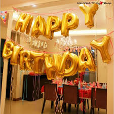 gold letter balloons 16 inch 13 pieces foil letter balloons happy birthday party