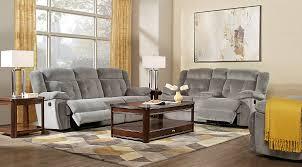 livingroom ls normandy gray 3 pc reclining living room reclining living rooms gray