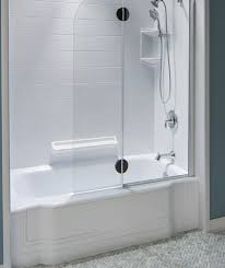 bathtub with shower surround bathroom remodeling acrylic bathtubs and showers bath fitter