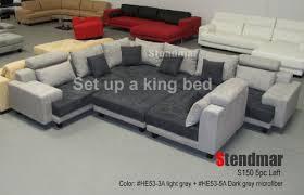 5pc new modern grey microfiber big sectional sofa set s150lg u2013 buy