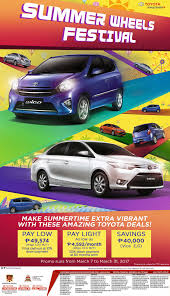 toyota motor services summer wheels festival toyota motor philippines no 1 car brand