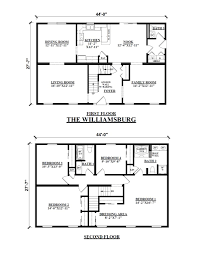 the williamsburg two story floor plans kintner modular homes plan