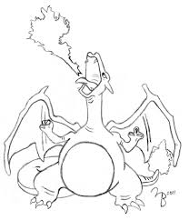 pokemon charizard sketch by lazy bing on deviantart