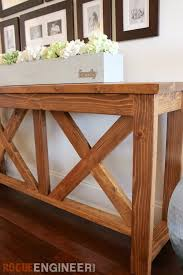 Diy Console Table Diy X Brace Console Table Free Plans Rogues Console Tables