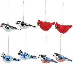 ed on air set of 8 glass bird ornaments by degeneres page