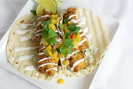 light batter for fish beer battered fish tacos with peach salsa that square plate