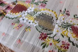 Brocade Home Decor by 1800s Antique French Silk Brocade Remnant Floral Yellow Pink