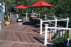 Stone Decks And Patios by Exterior Design Charming Trex Decking Cost With Stone Floor And
