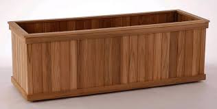 big rectangular teak planter boxes diamondtropicalhardwoods com
