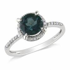 london blue topaz engagement ring 7 0mm london blue topaz and diamond accent engagement ring in 10k