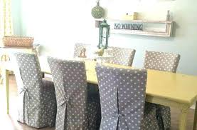 Dining Room Chairs With Slipcovers Grey Dining Room Chair Covers Jcemeralds Co