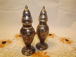 vintage trent salt and pepper shakers silver plate with