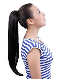 ponytail hair extensions maysu 22 inch clip in ponytails hair extensions clip