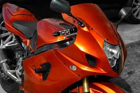 how to paint your motorcycle in your garage candy tangerine and
